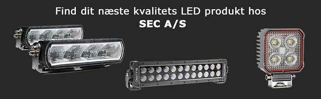 Fjernlys, lysbar og LED arbejdslamper