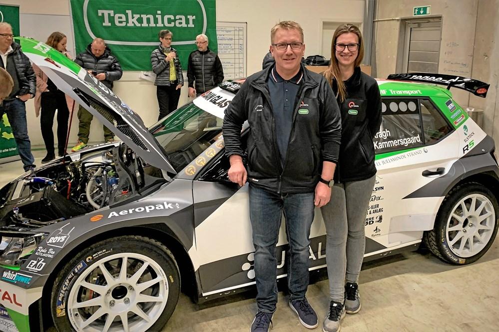 2e3e147d1b2 Ib Kragh og co-driver Ditte Kammersgaard ved deres nye R5-rallybil. Ligner  de nogle, der glæder sig til DM i rally 2019?