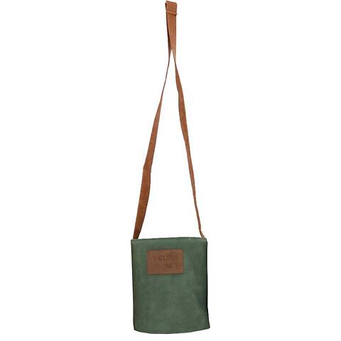 Pottehænger i læder, Ø13,5cm, grøn