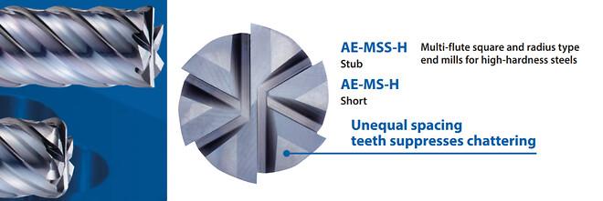 AE-M OSG Fräsar med 4-6 skär