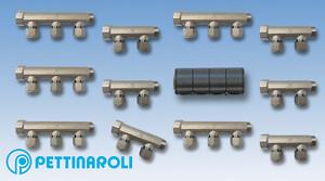 Med brugsvandsfordelerrør serie  BI-50X fra Pettinaroli kan du nemt og hurtigt påføre isolering takket været centerafstanden på 50 mm. 2, 3 og 4 afgreninger