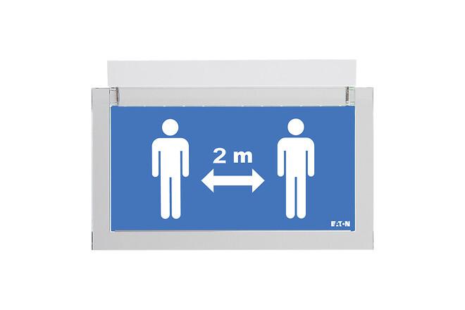 Social Distance Sign - montering direkte på væg eller loft