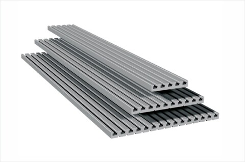 T-notplatta PT 25 i natur eloxerad aluminium användbar som bordskiva, fixturplatta. - #fixturplatta\n#fixtur\n#bordsskiva\n#aluminiumprofil\n#solectro\n#isel