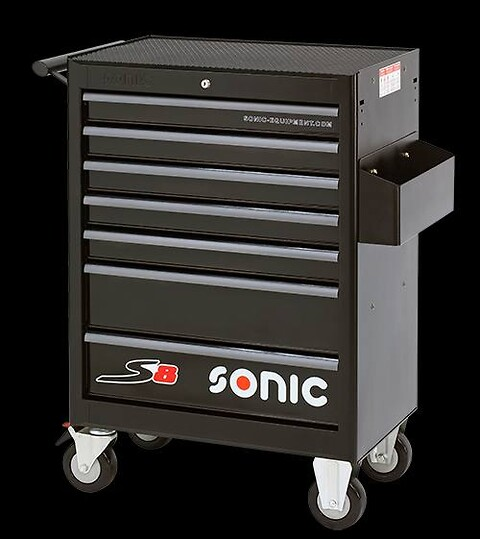SONIC S8 værkstedsvogn m. 241 stk. værktøj   - Sonic, værkstedsvogn, s8, værktøj, skuffer, katalogholder, centrallås, nøgle,