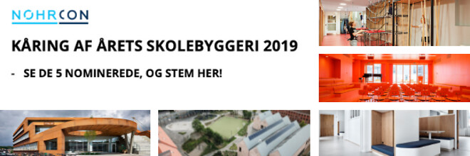 Afstemning - Årets skolebyggeri 2019 - Nohrcon