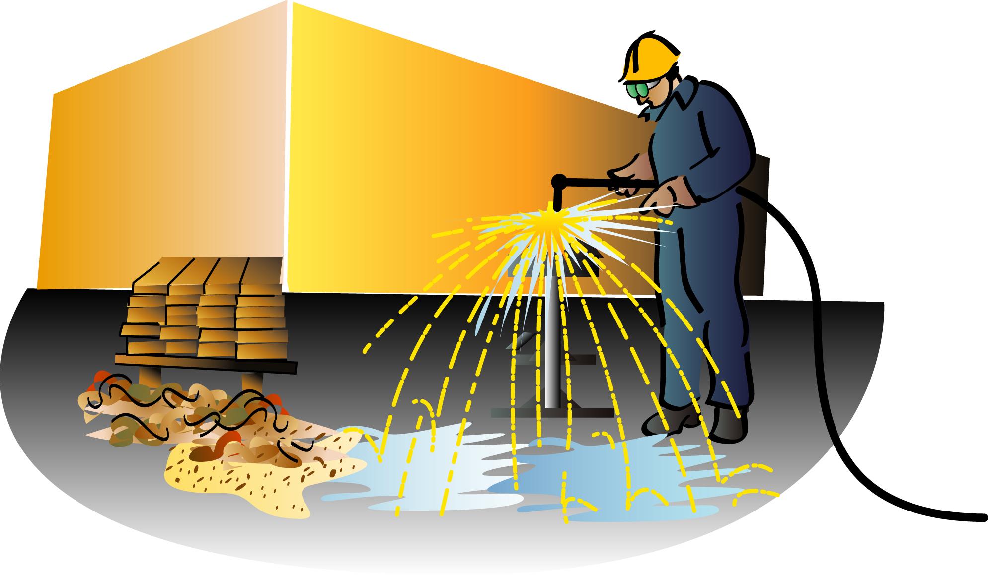 Varmt arbejde - brandforanstaltninger ved gnistproducerende værktøj (AMU) - Building Supply DK