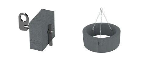 Ankerpunkt til løft af betonrør - Ankerpunkt til nem anhugning på betonrør.