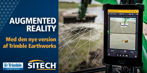 Augmented Reality - Trimble Earthworks 3D maskinstyring - Augmented Reality til 3D maskinstyring