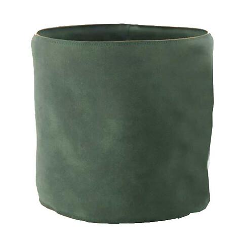 Potteskjuler i læder, Ø21,5cm, grøn