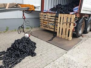 Ankerkæde ankommer til vores lager i Hamborg