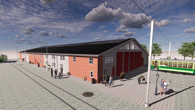 Vesti Olsen tilbage på Sporvejsmuseet der skal have ny facade
