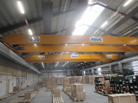 Brugte traverskraner 16 ton x 22,6 mtr. spænd sælges Stålspecialisten