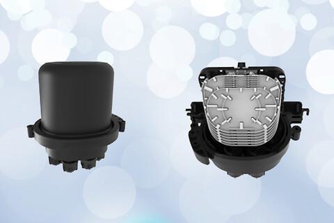 Ultra kompakt fibermuffe til 72 splidsninger - Prysmian-UMJ-fibermuffe