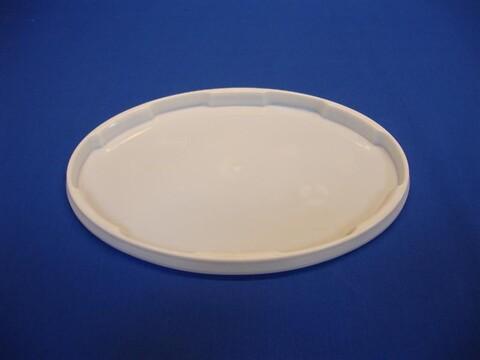 Oval plastlåg DOP5500 - 290x210 mm - hvid