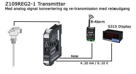 Z109REG2-1 universal transmitter/ isolator med relæ output!