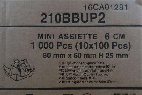 1000 stk. mini trætallerken - type 210BBUP2