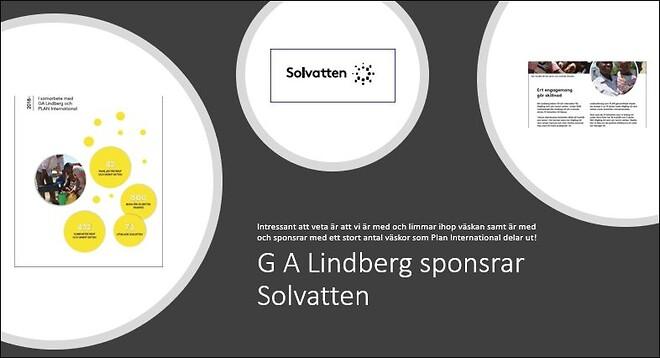 G A Lindberg sponsrar Solvatten