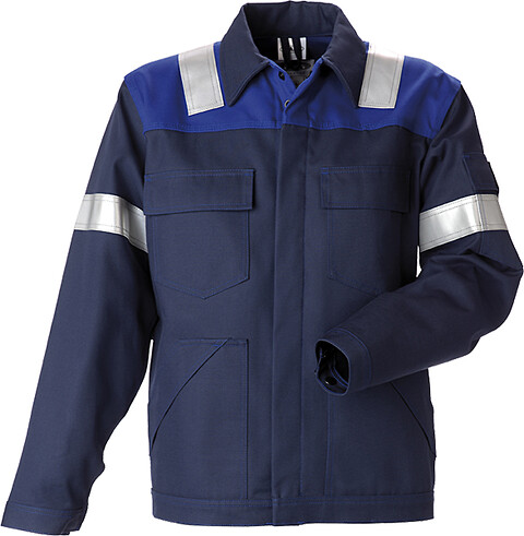 Arbejdsjakke, antiflame, kl. 1, 12002 - marine/kongeblå