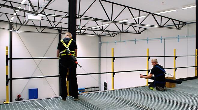 Axelent fallskydd maskinskydd fallolyckor olyckor arbetsmiljö