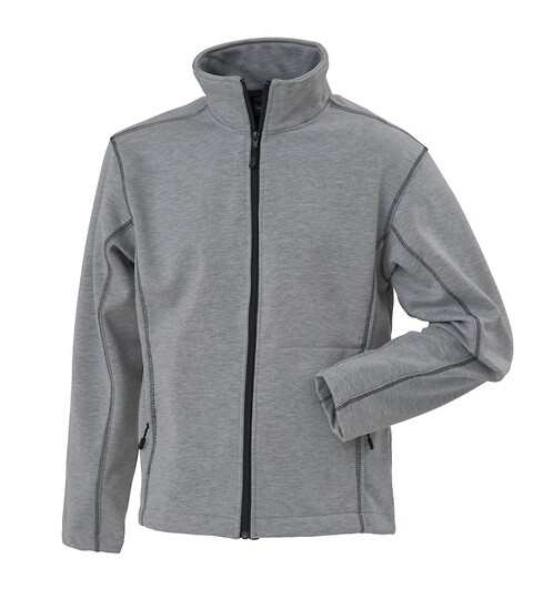 Tilbud - bonded cardigan, 6152 - grå melange