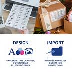 Avery Design & Print produktetiketter