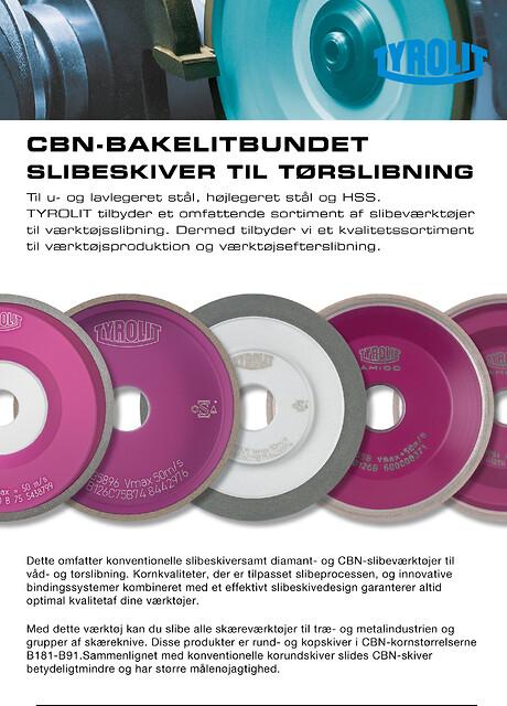 CBN-bakkelitbundet til universal værktøjsslibning. Til u- og lavlegeret stål, højlegeret stål og HSS