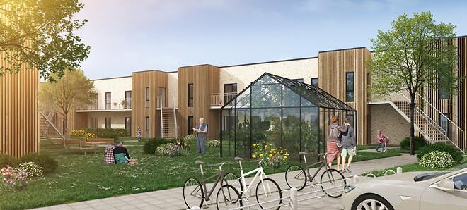 28 stilrene og velindrettede boliger blomstrer lige nu op i et nyt og attraktivt område midt i Fredericia. Inden længe danner de rammen for et kommende trygt hjem med en skøn beliggenhed.