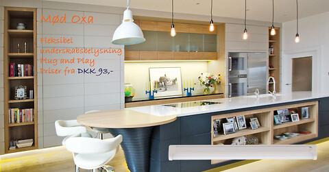 Køkken LED underskabsarmatur