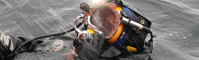 Dykkerfirma tester undervands produkter