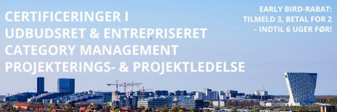 Certificering - udbudsret - entrepriseret - projektledelse projekteringsledelse - efteruddannelse