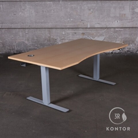Hæve Sænkebord, ahorn med centerbue, 160x90