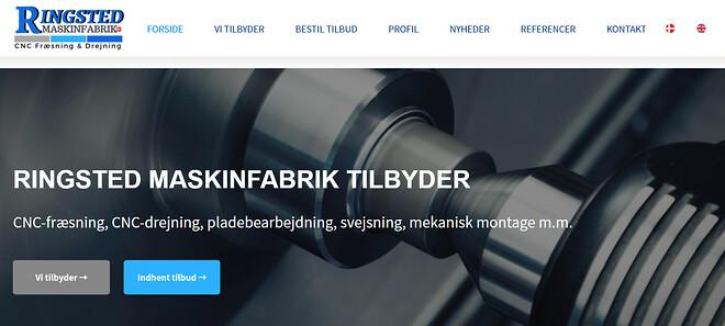 Ringsted Maskinfabrik, Ny websisde