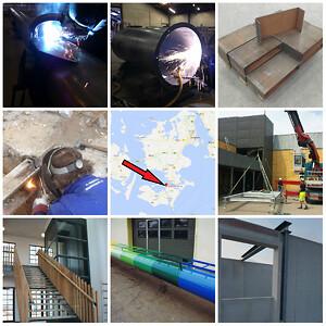 Smede og maskinfabrik med stål og montage