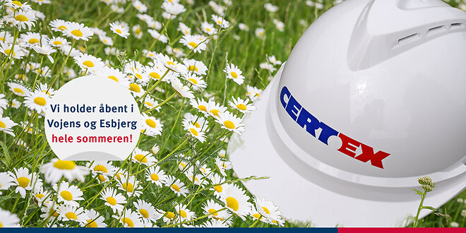 CERTEX Danmark  holder åbent hele sommeren