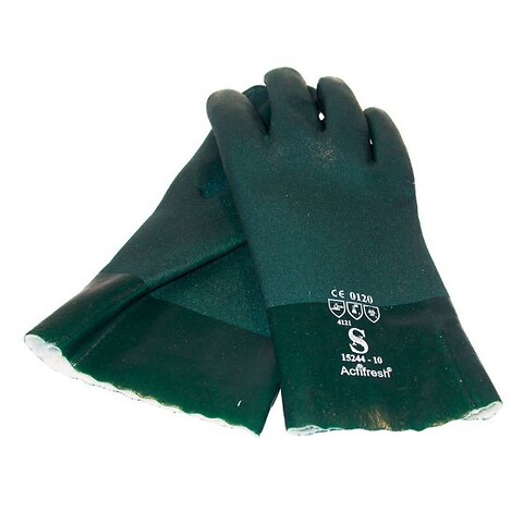 Grøn pvc handske kort