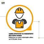 Samme effektivitet og produktivitet med færre hænder