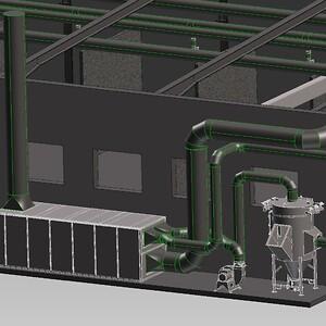 3D CAD model\nVentilation \nUdsugning \nProcesventilation \nATEX
