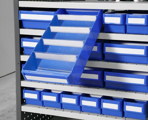 Plastkasser til lagerrreoler og skabe