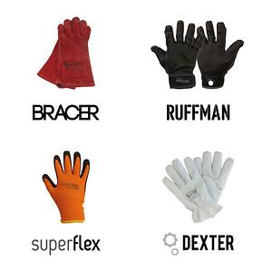Ruffman, Bracer, Superflax, Dexter. Stennevad giver kvalitetshandsker nye navne.