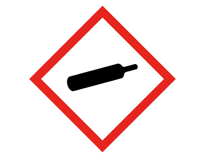 Varning gas under tryck