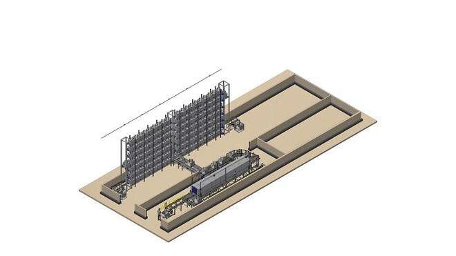 Bin Washer  VEMAG Washer Fuld automatisk vaske- og lagersystem til Vemag vogne