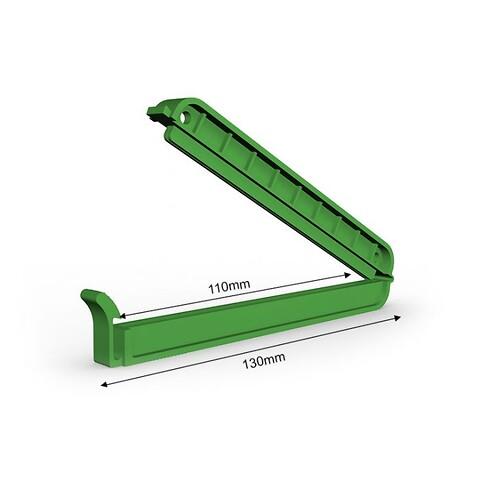 Poseklemme 130 mm - grøn