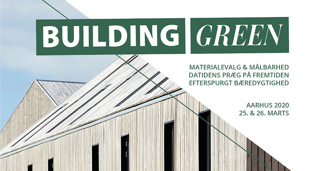 Building Green sætter fokus på bæredygtige valg og du får konkret viden om byggeri og arkitektur med hjem.