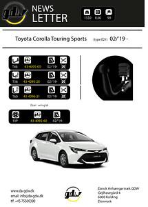 43-4096-21  Toyota Corolla Touring Sports\nskjult aftageligt anhængertræk