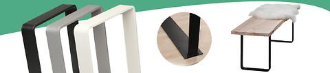 Bordben og bænkstel i tre klassiske farver