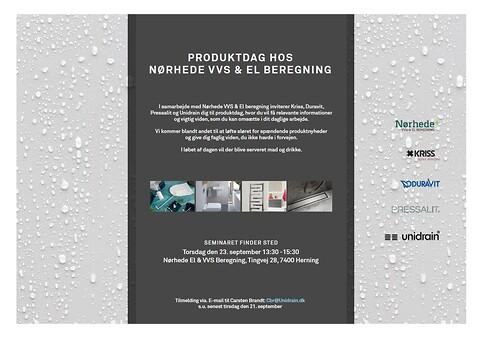 Gratis VVS-produktdag  hos Nørhede VVS & El beregning - VVS afløb badeværelse