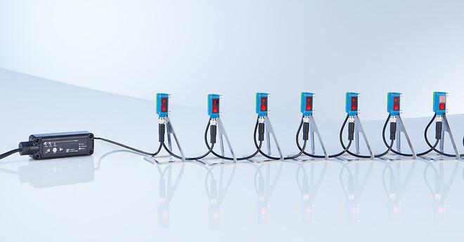 seriekobling af enkelte sensorer sparer kabelføring og letter integrationen