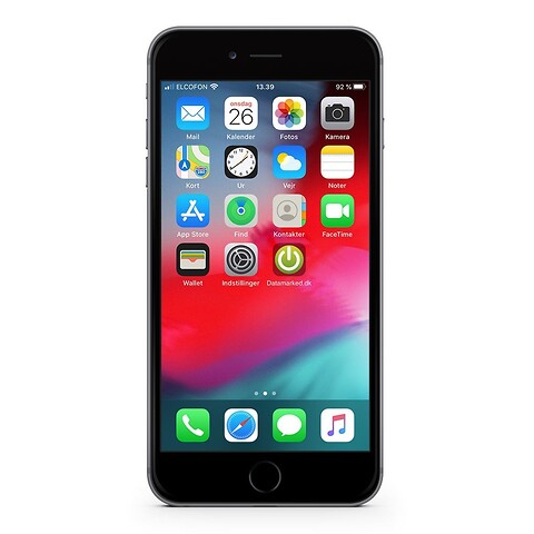 Apple iphone 6S plus 64GB (space gray) - grade b - mobiltelefon