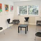 Venteværelse i lægeklinikken i Vanløse.
