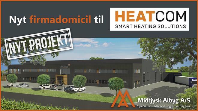 Nyt domicilbyggeri til Heatcom Corporation A/S i Middelfart. Vi bygger alle typer erhvervsbyggeri.
